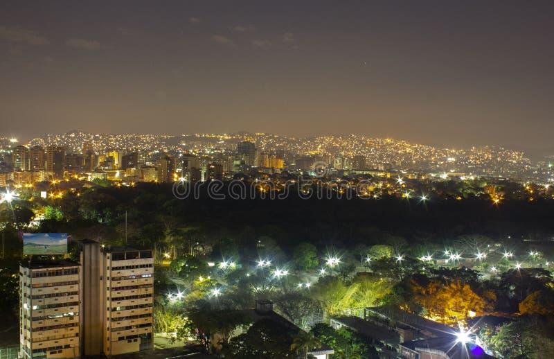 Spokojna noc w Altamira, Caracas zdjęcia royalty free