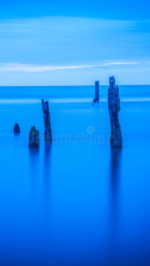 Spokojna ocean wody seascape błękita tapeta obrazy royalty free