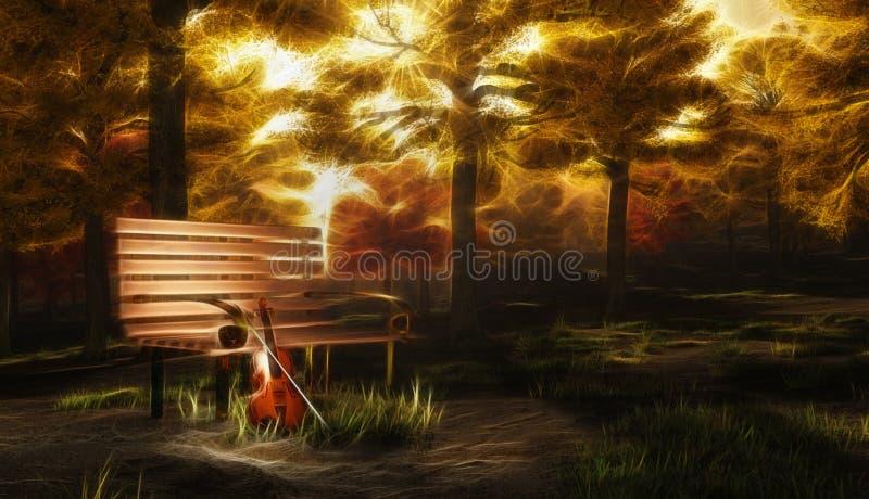 Spokojna serenada ilustracji