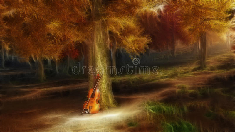 Spokojna serenada ilustracja wektor