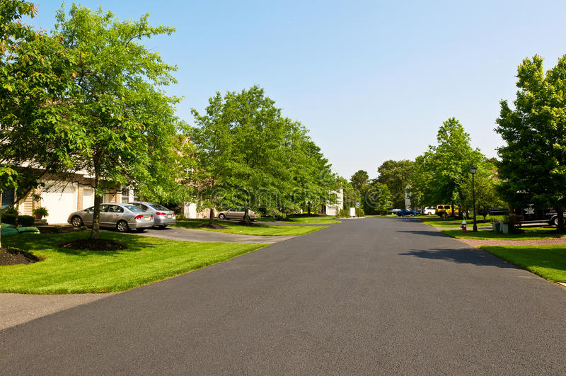 spokojna ulica zdjęcie royalty free