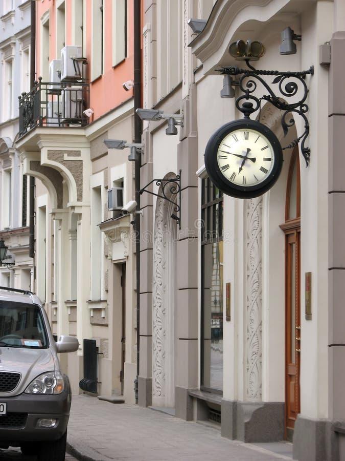 spokojna ulica Riga obrazy royalty free