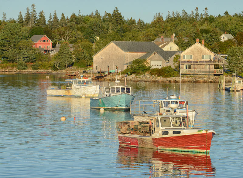 Spokojna wioska rybacka zdjęcia stock