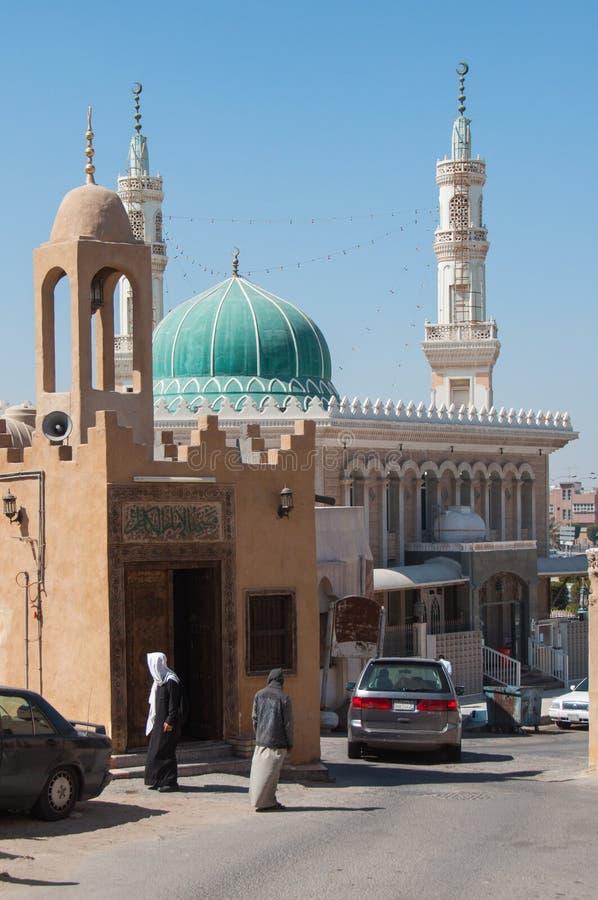 Spokojne ulicy Tarout wyspa, Arabia Saudyjska obrazy stock
