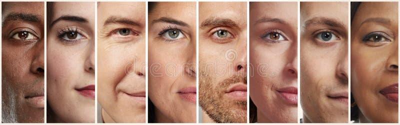 Spokojni ludzie twarzy zdjęcia stock