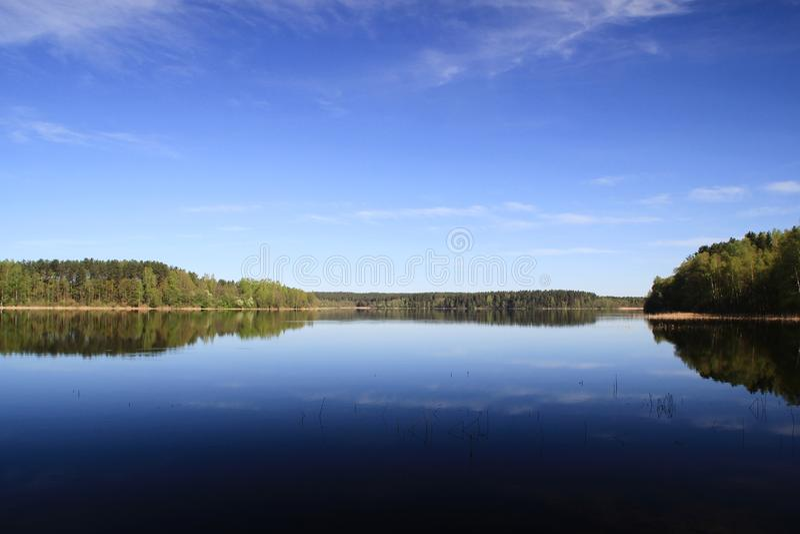 Spokojny jezioro fotografia royalty free