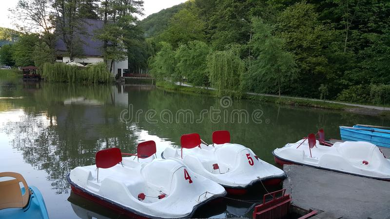 Spokojny jezioro obraz royalty free