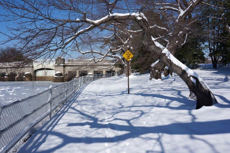 Spokojny miejsce w zimie obraz royalty free