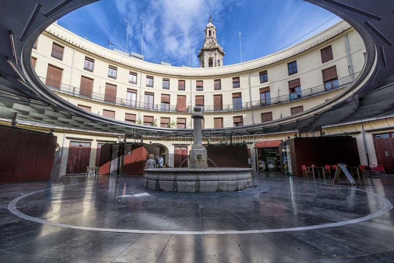 Spokojny moment w placu Redonda, Round kwadrat, Walencja, Hiszpania zdjęcie royalty free