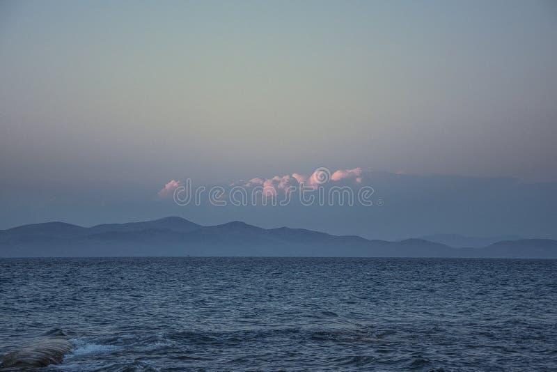 Spokojny spokoju i zaciszności morze obraz stock