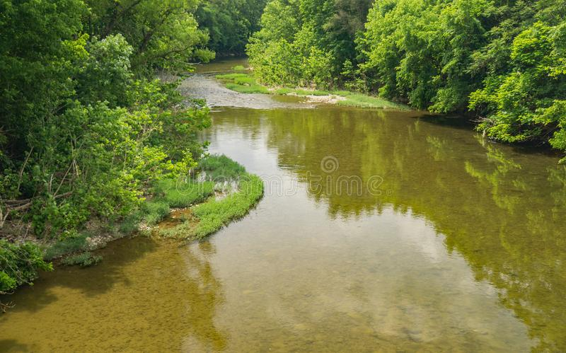 Spokojny widok Roanoke rzeka obraz stock