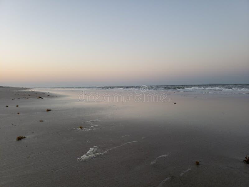 Spokojny wieczór na St Augustine, Floryda plaża obraz royalty free
