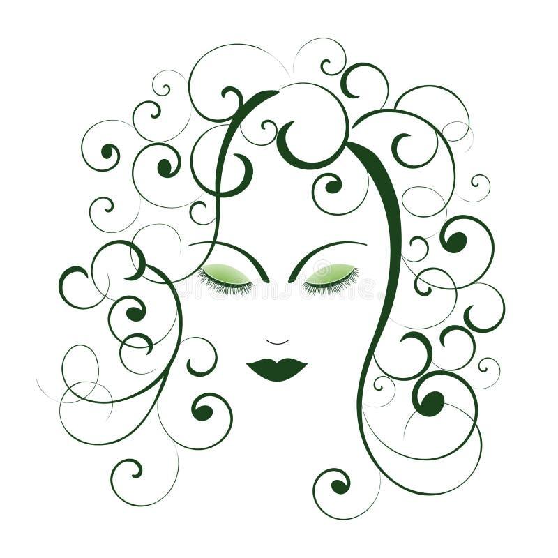spol den ofullbordade kvinnan för personen perfekt royaltyfri illustrationer