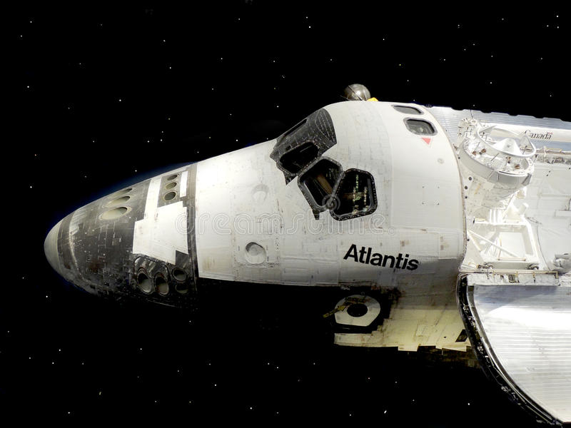 Spola di spazio Atlantis immagine stock