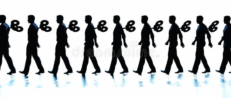 Spola upp män vektor illustrationer