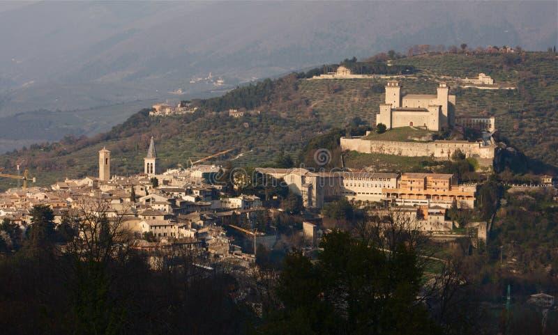 Spoleto, Italien stockfotos