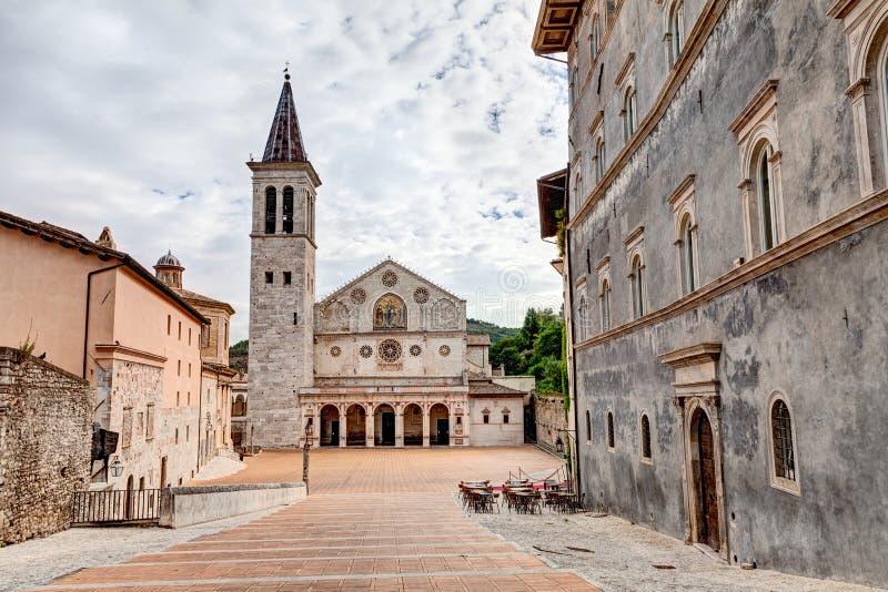 Spoleto-Kathedrale lizenzfreies stockbild