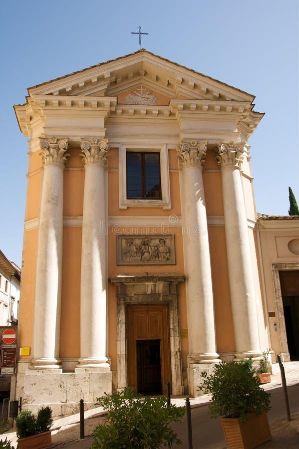 Spoleto Kirche lizenzfreies stockbild