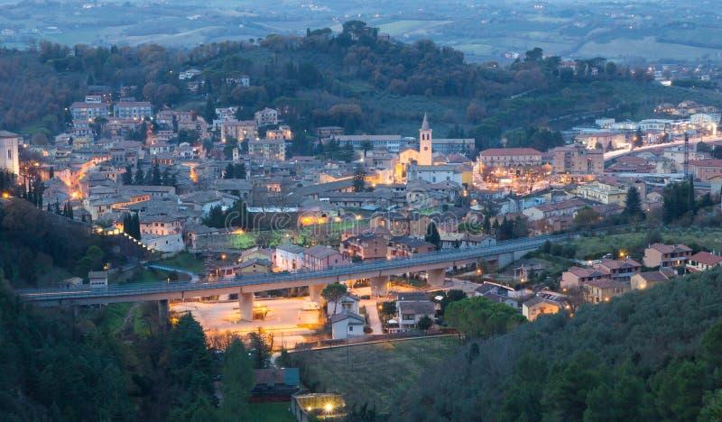 Spoleto nocą zdjęcia royalty free