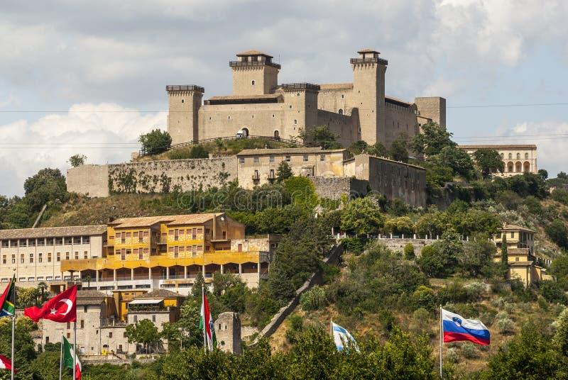 Kasteel van Spoleto royalty-vrije stock foto