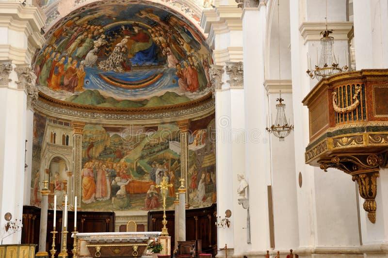 Spoleto Santa Maria Assunta domkyrka arkivfoton