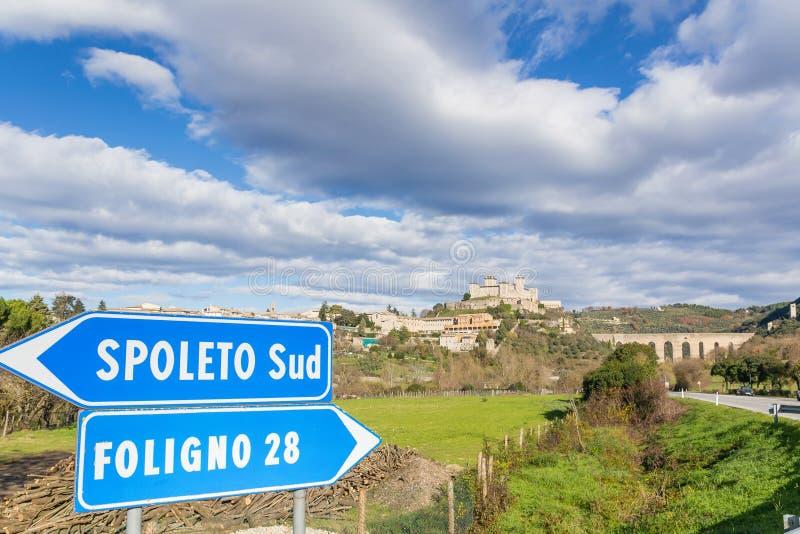 Spoleto, Umbrien, Italien lizenzfreie stockfotos