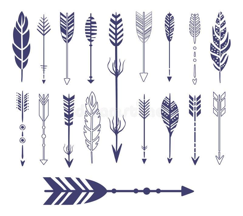 Spolette e raccolta del grafico delle frecce illustrazione vettoriale