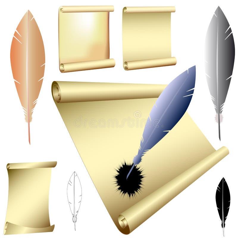 Spolette e rotoli royalty illustrazione gratis