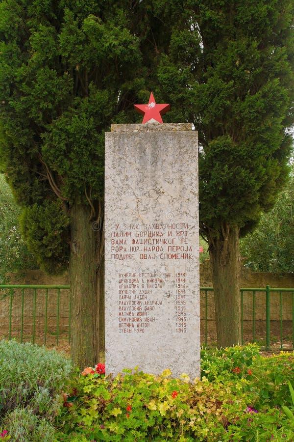Spomenik i Peroj arkivfoto