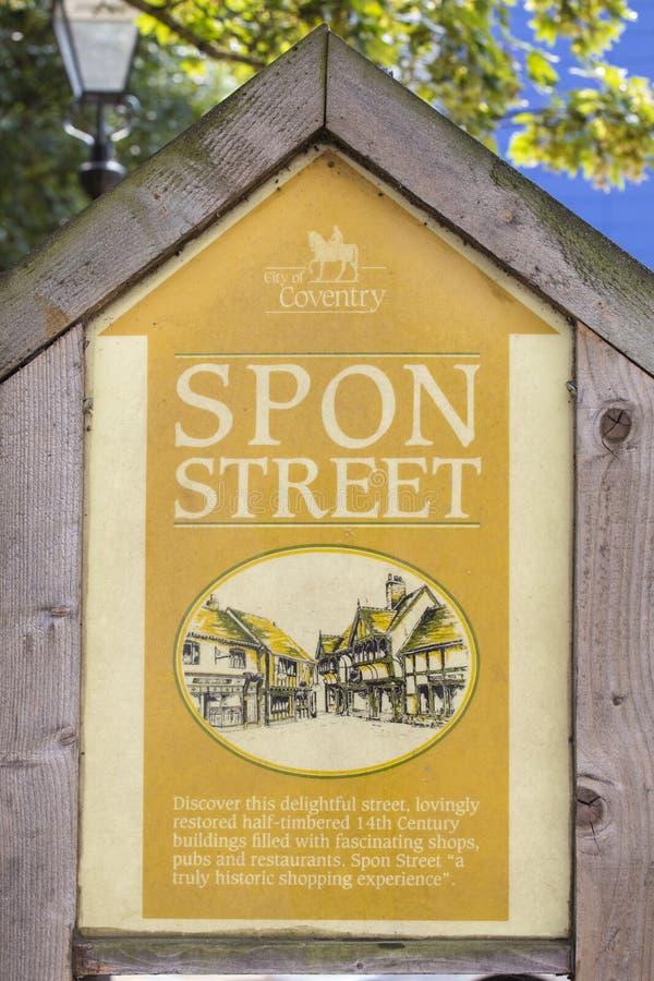 Spon gata i Coventry arkivbilder