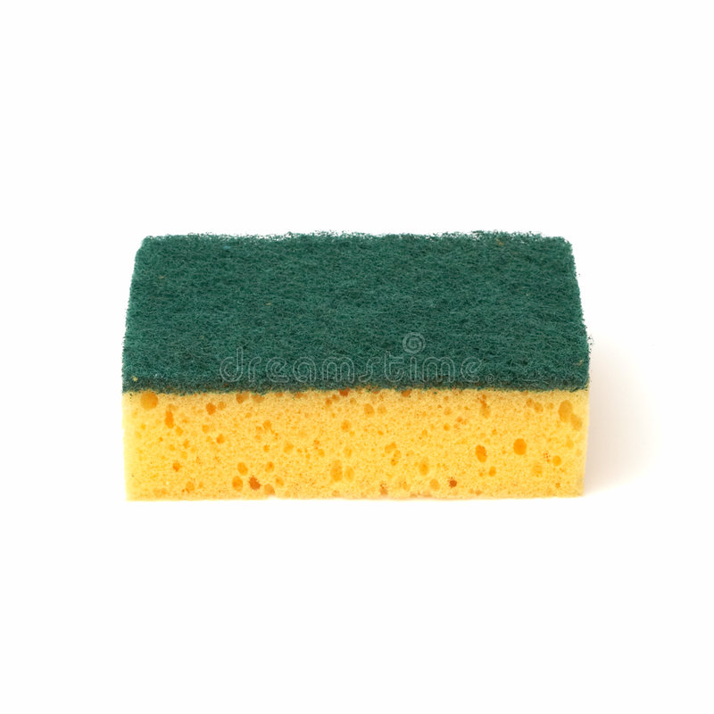 Sponge. Yellow sponge royalty free stock image