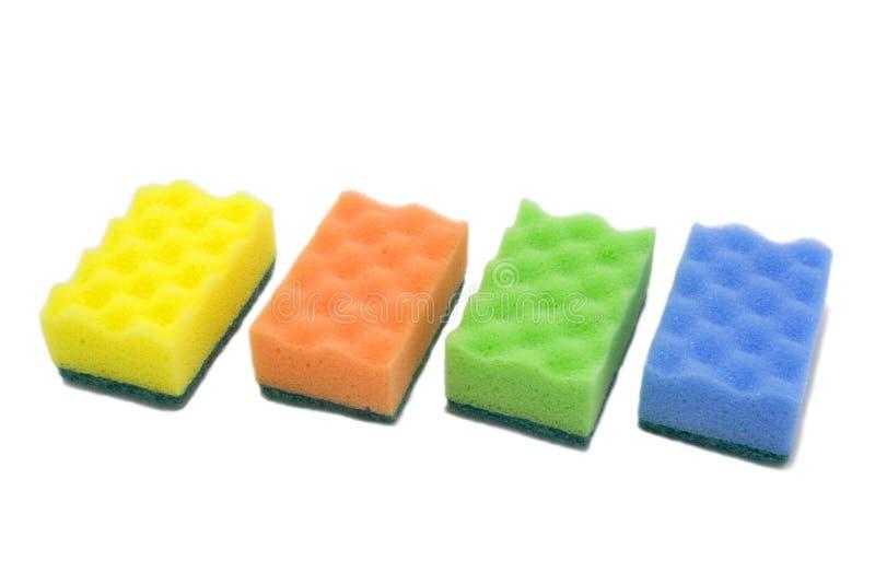 Sponge; bast whisp isolated over white royalty free stock images