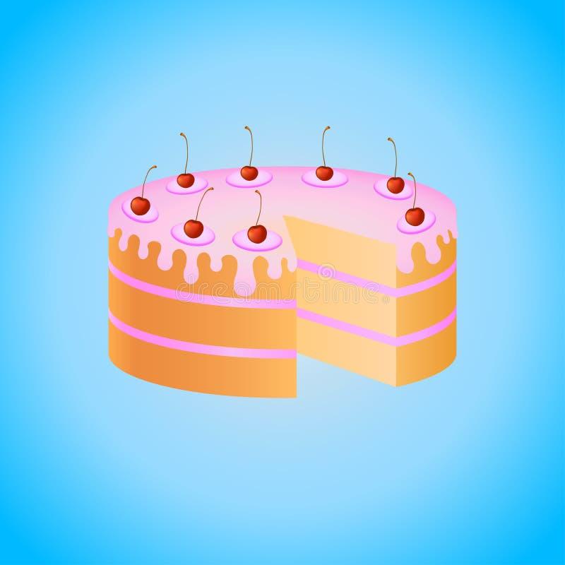 Sponge cake stock illustration