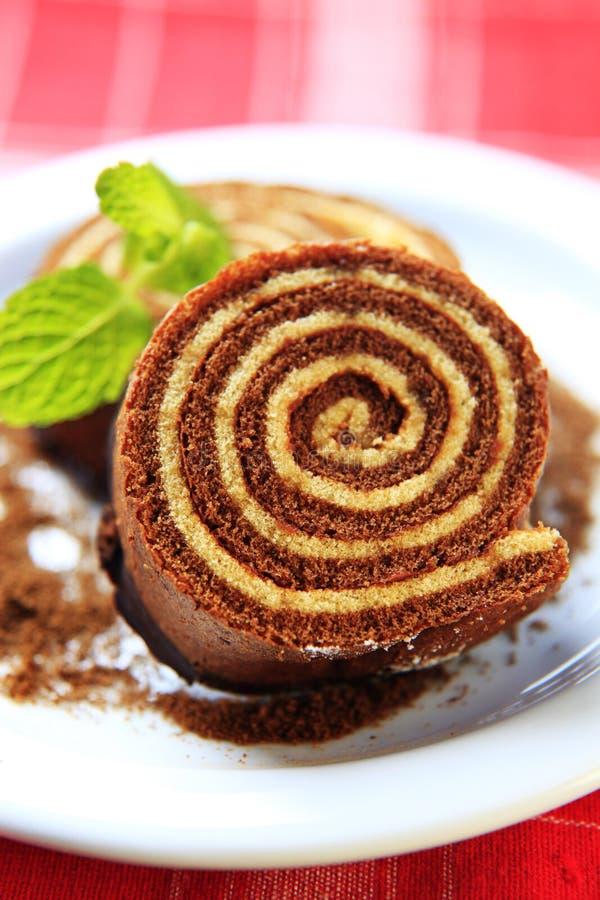 Sponge cake roll stock photography