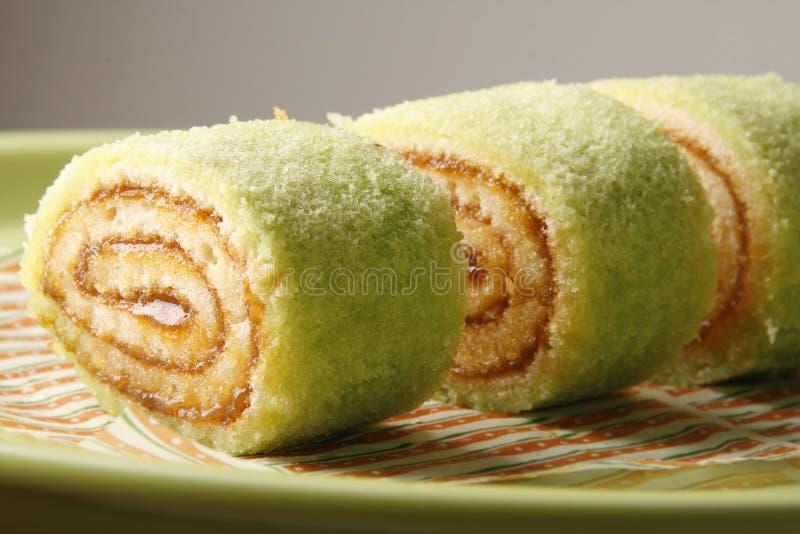Sponge cake roll stock image