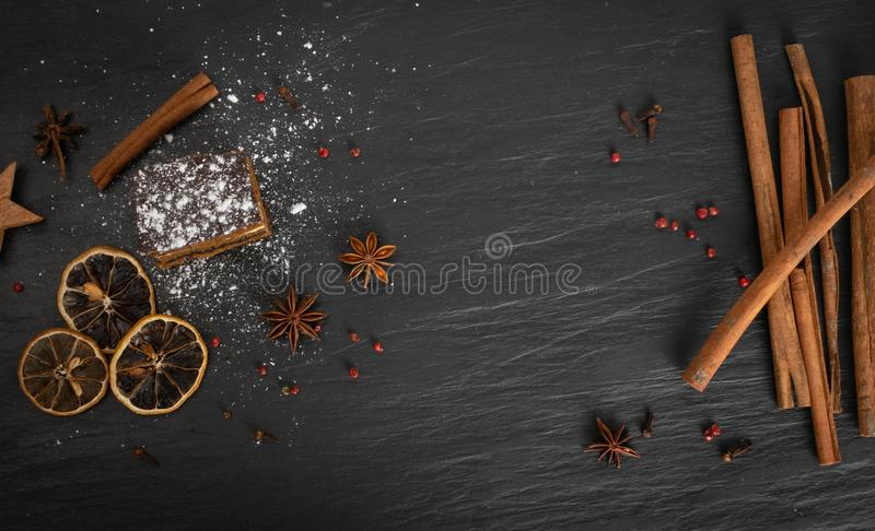 Sponge Cake with Spices and Honey, Piernik, Brown Biscuit royalty free stock photography