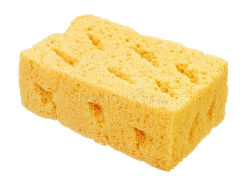 Sponge for cleaning and washing car royalty free stock photography