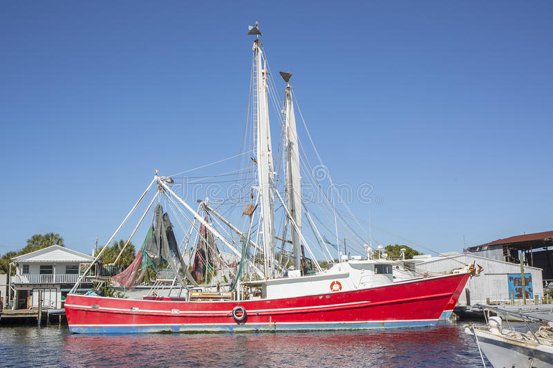 Sponge Docks Commercial Boat. Commercial boat at the Sponge Docks in Tarpon Springs, Florida royalty free stock image