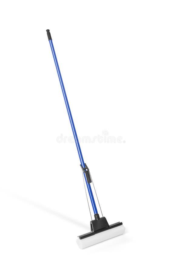 Sponge mop on white stock image