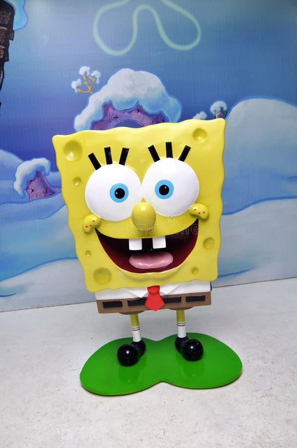 spongebob雕象 库存照片