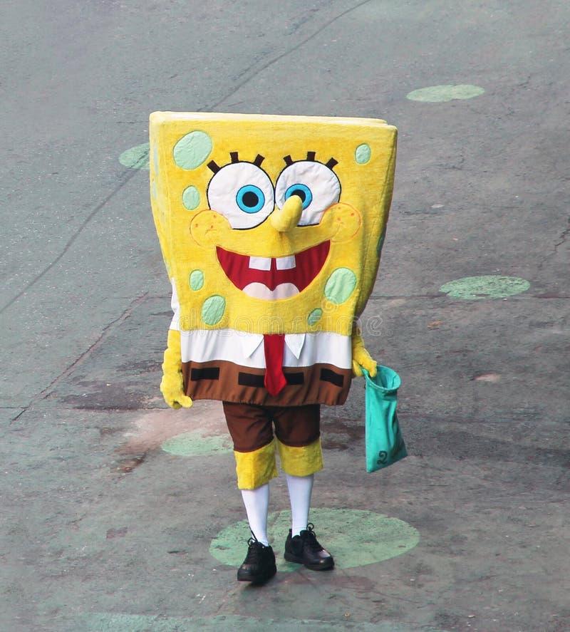 SpongeBob die op Cliënten wacht. stock fotografie