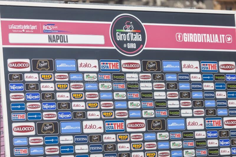 Download Sponsor Wall Of Giroditalia 2013 Editorial Photography - Image: 31011162