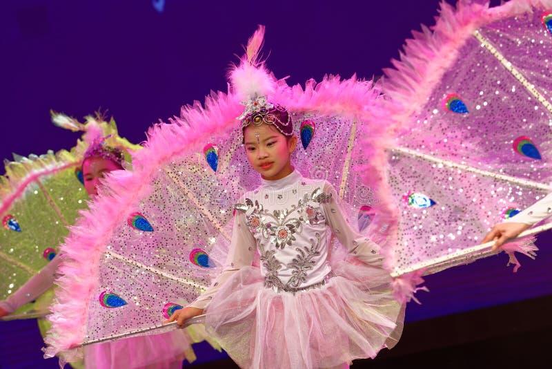 Newsboys- Beijing Dance Academy grading test outstanding children`s dance teaching achievement exhibition Jiangxi. Sponsored by the Beijing Dance Academy Grading royalty free stock photography