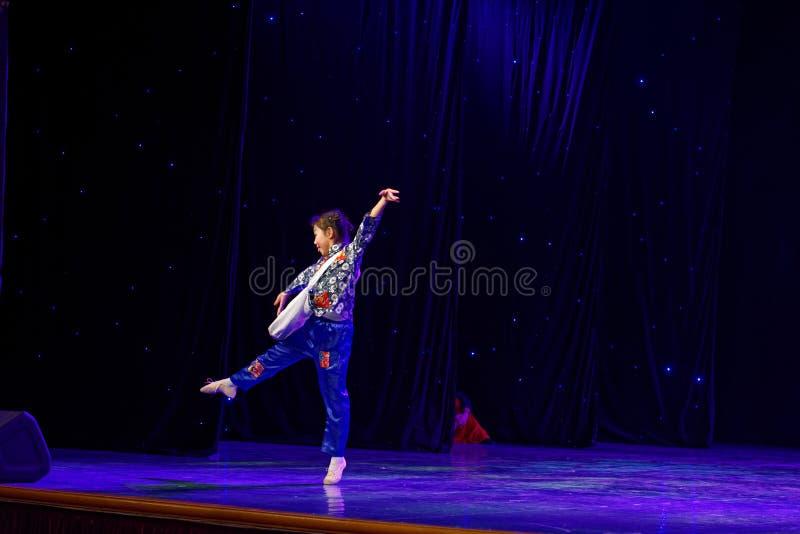 Newsboys- Beijing Dance Academy grading test outstanding children`s dance teaching achievement exhibition Jiangxi. Sponsored by the Beijing Dance Academy Grading royalty free stock photos