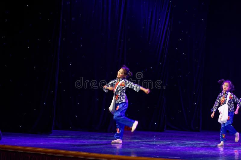 Newsboy- Beijing Dance Academy grading test outstanding children`s dance teaching achievement exhibition Jiangxi. Sponsored by the Beijing Dance Academy Grading royalty free stock photos