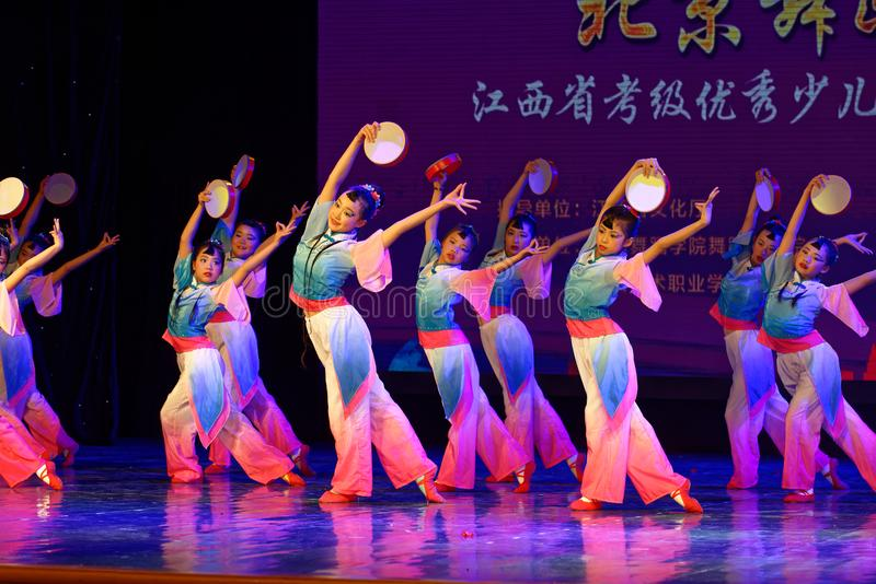 Wish of the moon- Beijing Dance Academy grading test outstanding children`s dance teaching achievement exhibition Jiangxi. Sponsored by the Beijing Dance Academy stock photos