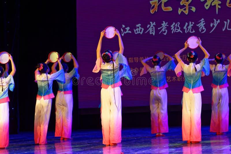 Wish of the moon- Beijing Dance Academy grading test outstanding children`s dance teaching achievement exhibition Jiangxi. Sponsored by the Beijing Dance Academy royalty free stock photos