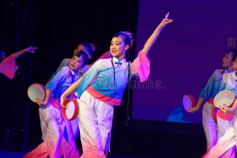 Wish of the moon- Beijing Dance Academy grading test outstanding children`s dance teaching achievement exhibition Jiangxi. Sponsored by the Beijing Dance Academy royalty free stock images