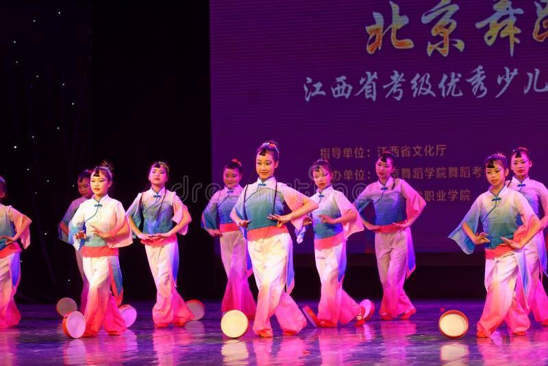 Wish of the moon- Beijing Dance Academy grading test outstanding children`s dance teaching achievement exhibition Jiangxi. Sponsored by the Beijing Dance Academy royalty free stock image