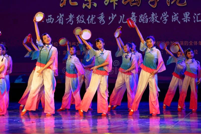 Wish of the moon- Beijing Dance Academy grading test outstanding children`s dance teaching achievement exhibition Jiangxi. Sponsored by the Beijing Dance Academy stock image
